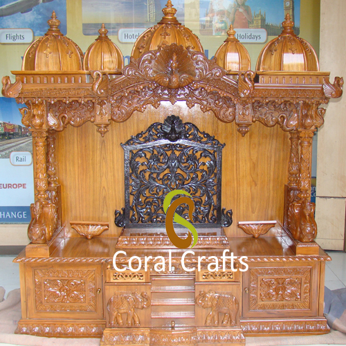 Buy beautiful indian temple for home exporter manufacturer supplier usa uk india for Wooden temple for home designs