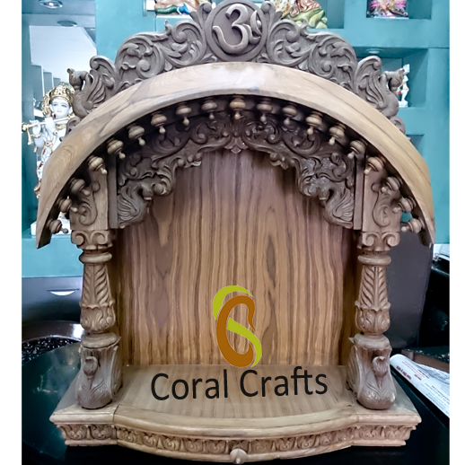 Buy online beautiful wooden wall hanging temple for home - Wall mounted wooden temple design for home ...