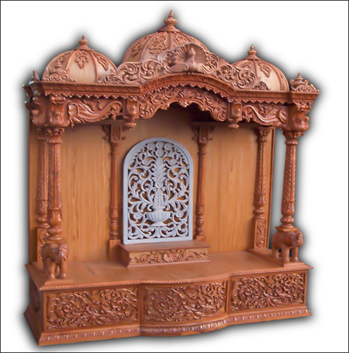 Buy Wooden Temple, Wooden Puja Mandir, Wooden Pooja Mandapam For Home,  Office, India, USA, UK, Australia, New Zealand